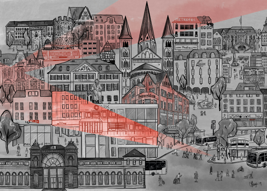 Illustration Stadt Bonn